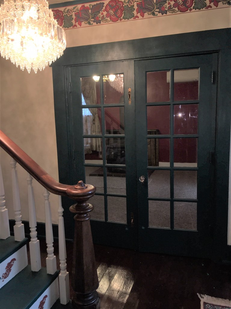 French doors leading to Living Room